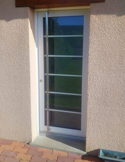 Porte d'entrée Inotherm vitrée