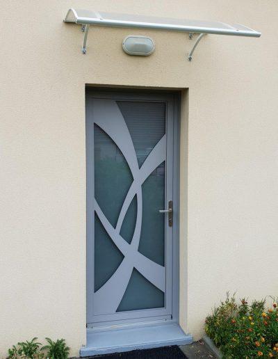 Porte d'entrée Pierret Amande_gris clair