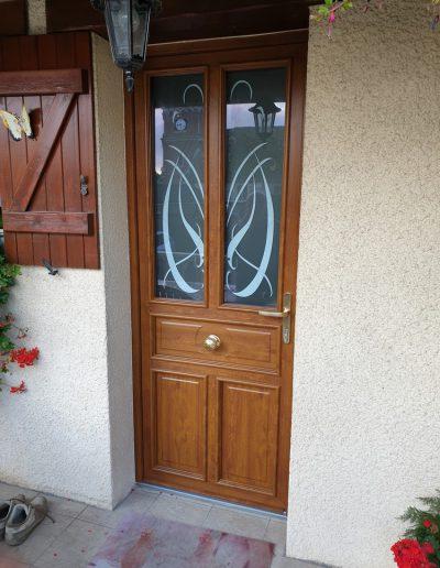 Porte d'entrée Pierret avec vitrage personnalisé